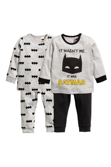 2-pack pyjamas - Grey/Batman - Kids | H&M CN