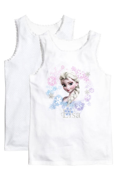 2件装上衣 - White/Frozen -  | H&M CN 1