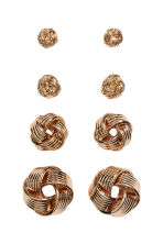 4 pairs earrings - Gold - Ladies | H&M CN 2