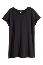 Long T-shirt - Black - Ladies | H&M 2