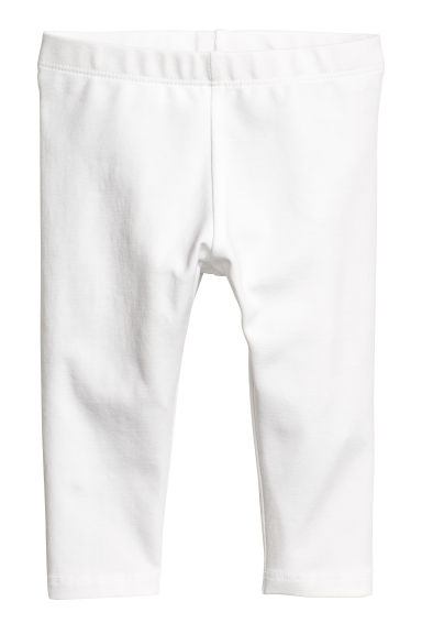 Jersey leggings - White - Kids | H&M