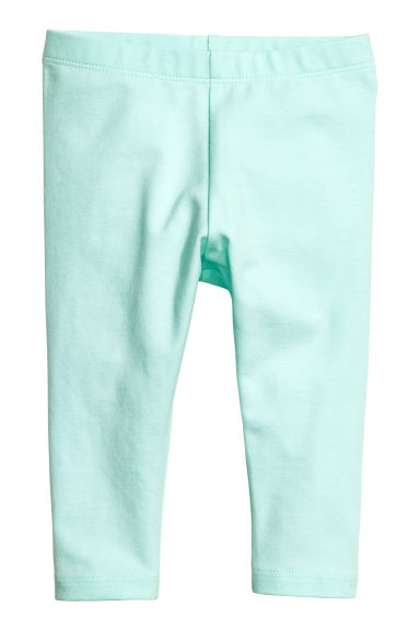 Jersey leggings - Mint green - Kids | H&M 1