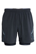 Running shorts - Dark blue - Men | H&M 2