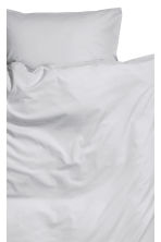 Washed cotton duvet cover set - Light grey - Home All | H&M CA 2
