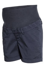 MAMA Chino shorts - Dark blue - Ladies | H&M 3