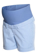 MAMA Chino shorts - Blue/White/Striped - Ladies | H&M CN 2