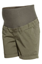 MAMA Chino shorts - Khaki green - Ladies | H&M CN 2