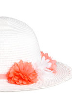 Straw hat - White - Kids | H&M CN 2