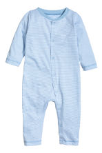 2-pack all-in-one pyjamas - Light blue/Striped - Kids | H&M 2