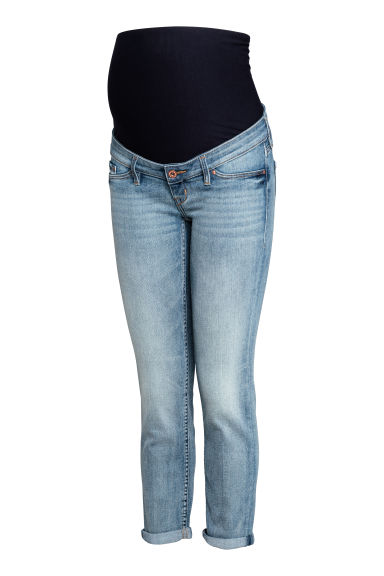 MAMA Skinny Ankle Jeans - Blu denim chiaro - DONNA | H&M IT