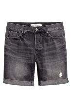 Denim shorts - Black washed out - Men | H&M 2