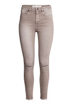 Skinny High Ripped Jeans - Sand - Ladies | H&M CN 2