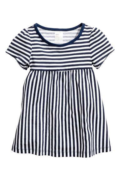 Jersey dress - Dark blue/Striped - Kids | H&M CN 1