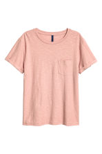 T-shirt with a chest pocket - Dusky pink -  | H&M 2