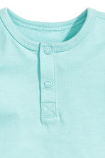 Short-sleeved Henley shirt - Mint green - Kids | H&M CN 2