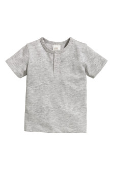 Short-sleeved Henley shirt