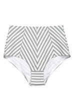 Bikini bottoms - White/Grey striped - Ladies | H&M 2