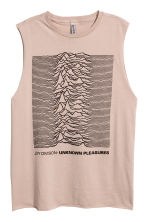 Tanktop med tryck - Beige/Joy Division - DAM | H&M FI 2