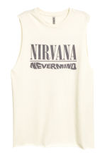 Printed vest top - Natural white/Nirvana -  | H&M 2