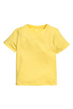 Cotton T-shirt - Yellow -  | H&M 2