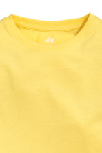 Cotton T-shirt - Yellow -  | H&M 3