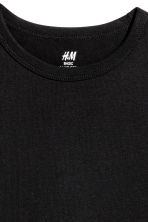 T-shirt in cotone - Nero -  | H&M IT 3