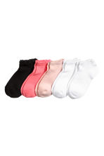 5-pack ankle socks - White - Kids | H&M CN 1