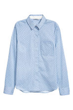 Stretch shirt - Blue/Spotted - Ladies | H&M CN 2