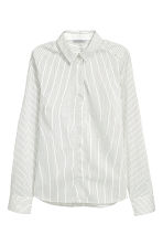 Stretch shirt - White/Striped -  | H&M 2