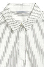 Stretch shirt - White/Striped -  | H&M 3
