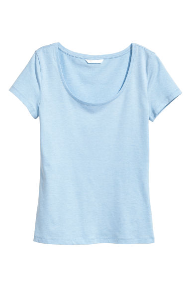 Jersey top - Light blue marl -  | H&M CN 1