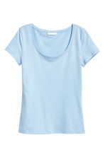 Jersey top - Light blue marl -  | H&M 1