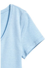 Jersey top - Light blue marl -  | H&M 2