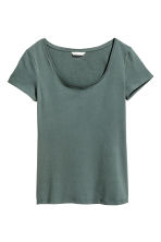 Jersey top - Dark green -  | H&M 2