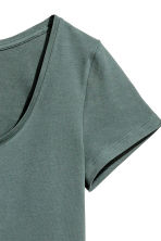 Jersey top - Dark green - Ladies | H&M 3