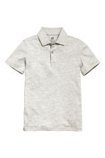 Polo shirt - Light grey marl - Kids | H&M 2