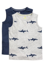 2-pack tops - Grey/Sharks -  | H&M 2