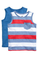 2-pack tops - Bright blue - Kids | H&M CN 2