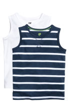 2-pack tops - Dark blue/Striped - Kids | H&M CN 2