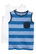 2-pack tops - Blue/Striped - Kids | H&M CN 2