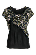 MAMA Nursing top - Black/Floral - Ladies | H&M 3