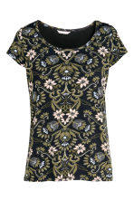 MAMA Nursing top - Black/Floral - Ladies | H&M 2