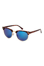 Sunglasses - Tortoiseshell/Blue - Ladies | H&M CN 1