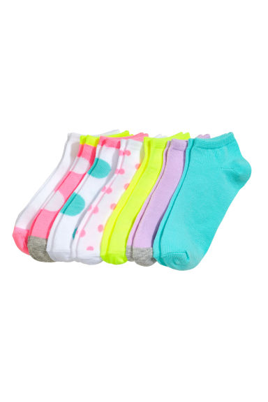 7-pack trainer socks - Neon yellow - Kids | H&M CN 1