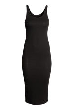 Ribbed dress - Black - Ladies | H&M CA 2