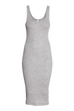 Ribbed dress - Grey marl - Ladies | H&M 2