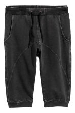 Shorts in felpa - Nero Washed out - UOMO | H&M IT 2