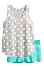 Jersey pyjamas - Grey/Spotted - Kids | H&M 1