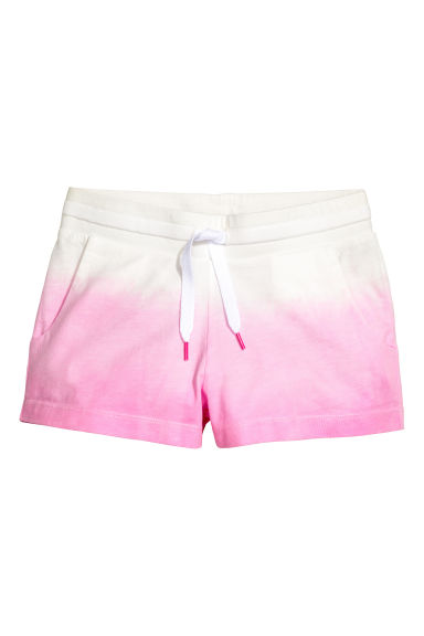Jersey shorts - White/Pink - Kids | H&M 1