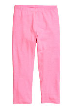 3/4-length leggings - Neon pink -  | H&M CN 1